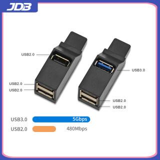 JDB Bộ Chia Cổng USB 2.0 3 Cổng Mini Tiện Dụng Bộ Chia Cổng USB 3.0 Nối Tiếp thumbnail