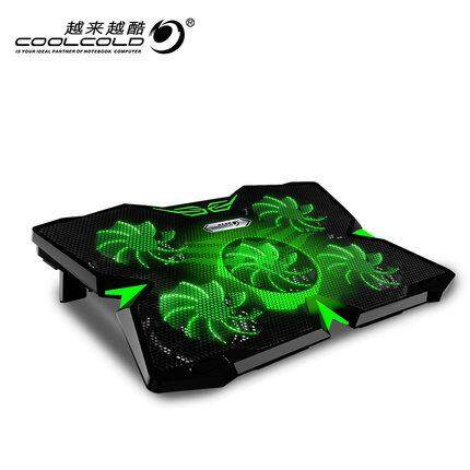 【JM GAMING MALAYSIA】ICE TROLL 2S SILENT ALUMINUM 5 FANS LAPTOP COOLING PAD - CAMOUFLAGE / GREEN Malaysia
