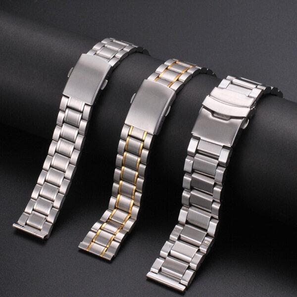 LANGLEY Dây đeo đồng hồ làm bằng thép không gỉ thiết kế dây đồng hồ Oyster có thể dùng cho đồng hồ lặn, kích tước 12mm 14mm 16mm 18mmm 20mm 22mm 24mm ( sản phẩm không bao gồm mặt đồng hồ) - INTL bán chạy