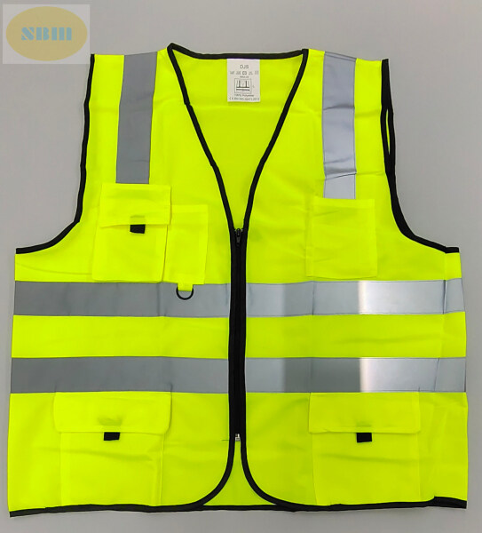 * READY STOCK MALAYSIA * [ SBM ] LIME GREEN 5 POCKET FASHION DESIGN SAFETY VEST C/W FOUR LINE VISIBLE REFLECTIVE LINE / REFLECTIVE VEST / REFLECTIVE SAFETY VEST / SAFETY REFLECTIVE VEST