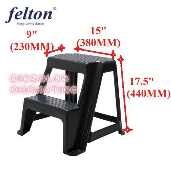 FELTON Plastic Step Chair Ladder FPS 1622 / Tangga Plastik