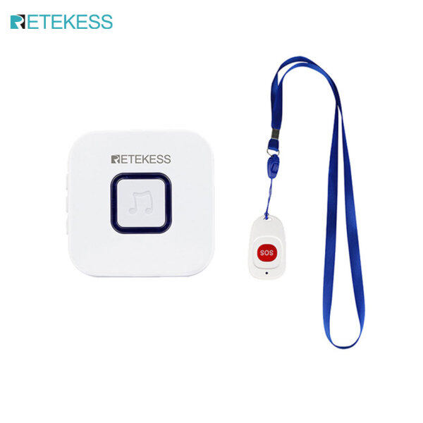 Retekess TH003 Caregiver Pager Wireless SOS Call Button Nurse Calling Alert Patient Help System for Home Elderly Patient Personal