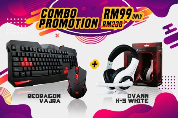Clearance Gaming Combo (Keyboard, Headset and Mouse) Malaysia