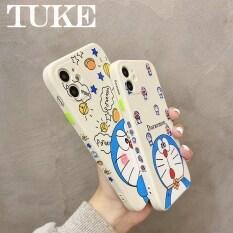 Ốp Điện Thoại TUKE Doraemon Hoạt Hình, Ốp Silicon Khung In Hình Vuông Cho iPhone 12 11 Pro Max 12 Mini XR X XS MAX 6S 6 7 8 Plus