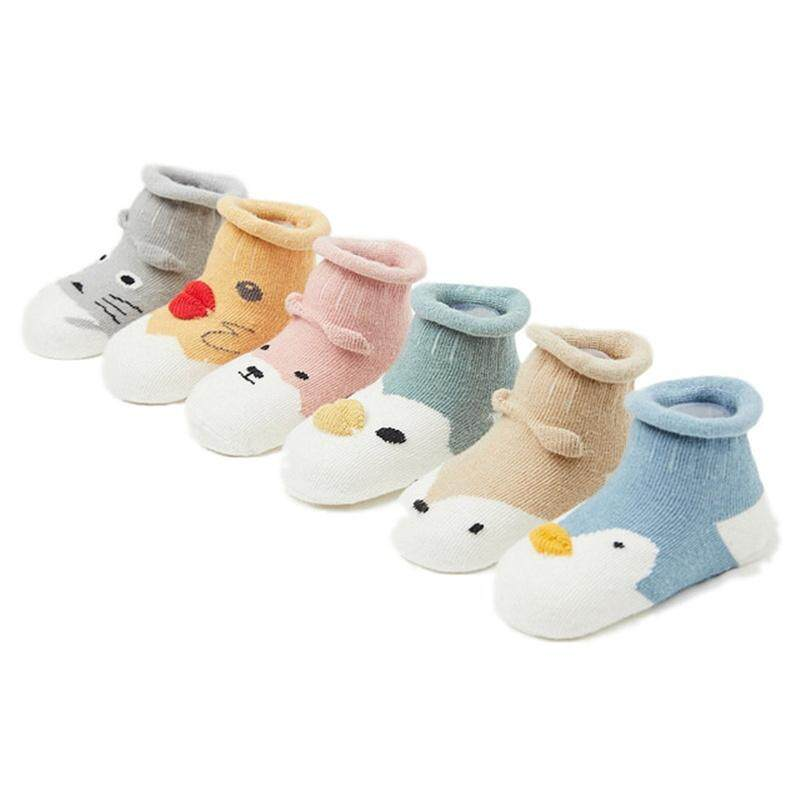 0d5d045837a 6 pairs lot Cartoon cotton children socks baby non-slip socks loose mouth  three
