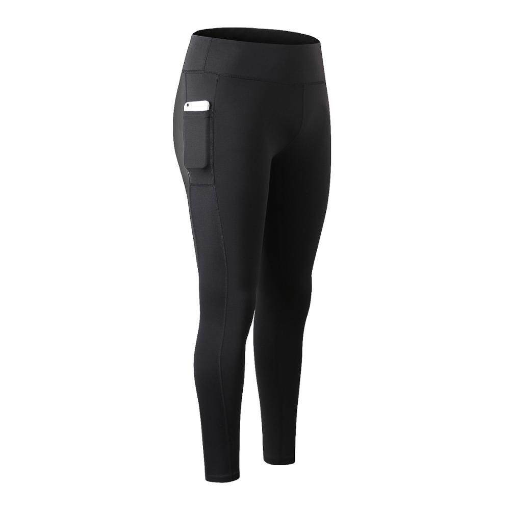 Olahraga Yoga Perempuan Celana Latihan Kebugaran Lari Cepat Mengeringkan Celana Sport Ketat Saku Celana Panjang By Good World Store.