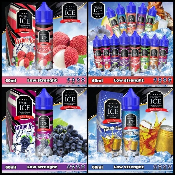 Project ICE Fruity Series 60ML Vape Ejuice /Grape Ice /Melon Dew /Apple Champagne #6 Malaysia
