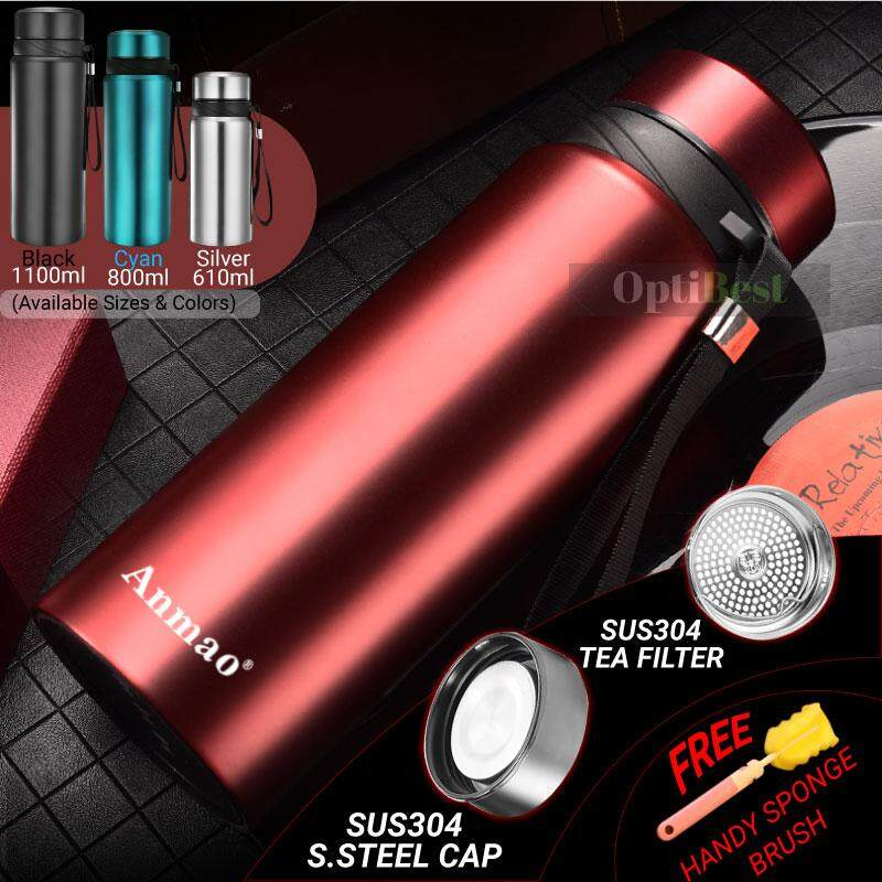 1100ml Large Capacity Thermos 304 Stainless Steel Insulated Thermal Flask Vacuum Flask Drinking Bottle Water Bottle