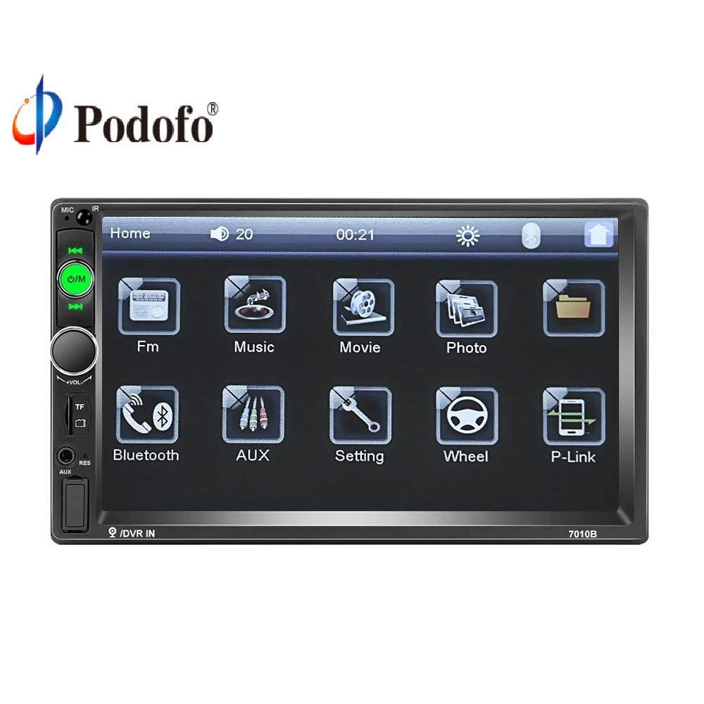 Double Din Car Radio 7  HD Player MP5 Touch Screen Digital Display Support Bluetooth Multimedia USB Autoradio Mirror Link Rear View Camera Connection Giảm Duy Nhất Hôm Nay