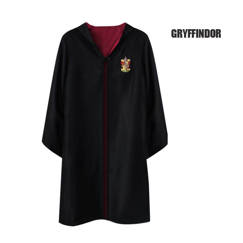 Halloween Cosplay Robe Costume Harry Potter Hooded Robes Child Adult Unisex Costume Black With Scarf + Tie By Mr&sh.