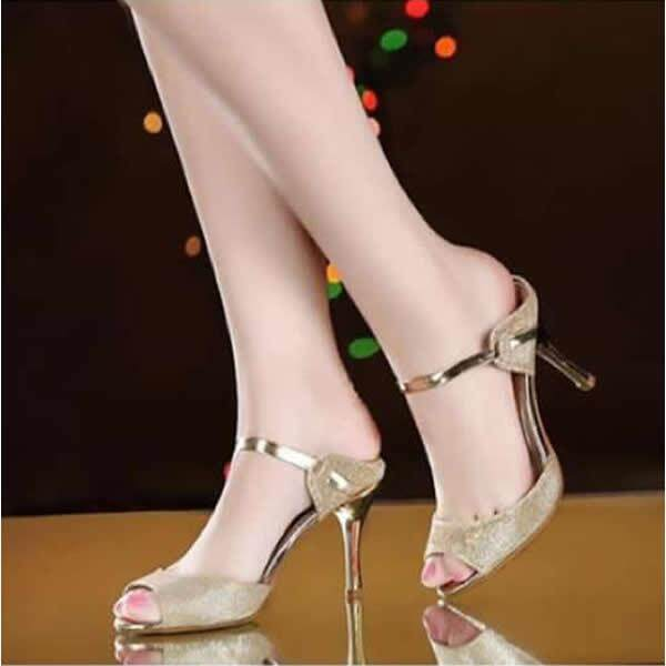 ❤Women Sexy Party High Heels Sandals❤Gold/ Silver Heel height:9cm/