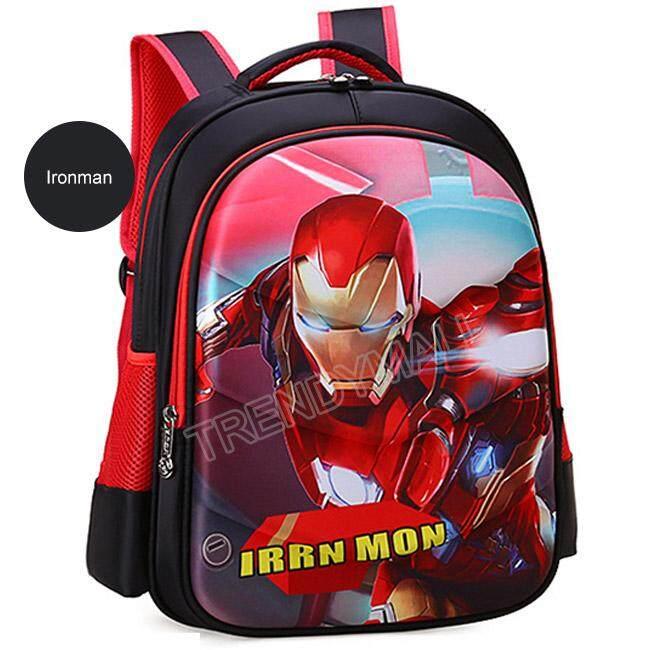 3d Marvel Hero Avengers Kids School Backpack / Spiderman / Ironman / School Bag By Trendymall.