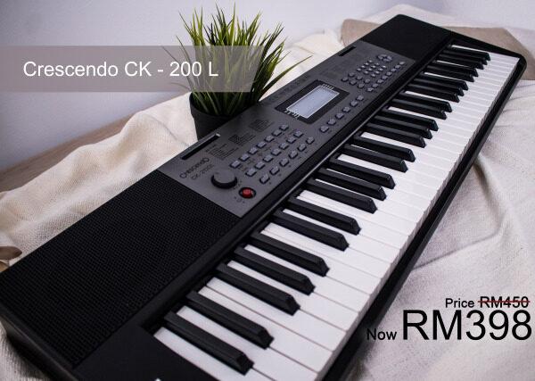 Crescendo CK-200L 61 Keys Multi function Electronic Portable Keyboard Malaysia