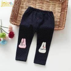【Jojojos Adventure】quần Bó Cotton Cho Trẻ Sơ Sinh Quần Tất Trẻ Em Màu Trơn Cho Bé Gái Mới