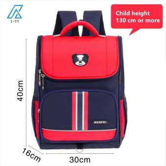 กระเป๋านักเรียนโรงเรียนประถมชายและหญิง 1-2-5-6 เกรดสันลดไหล่กระเป๋านักเรียนเด็กอายุ 6-12 ปี