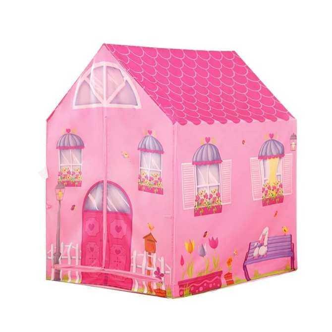 Hình ảnh [DEAL NÓNG] Sẵn sàng MIỄN PHÍ 50 quả bóng + Cô gái công chúa Chơi lều Playhouse Đồ chơi đường hầm (màu hồng)