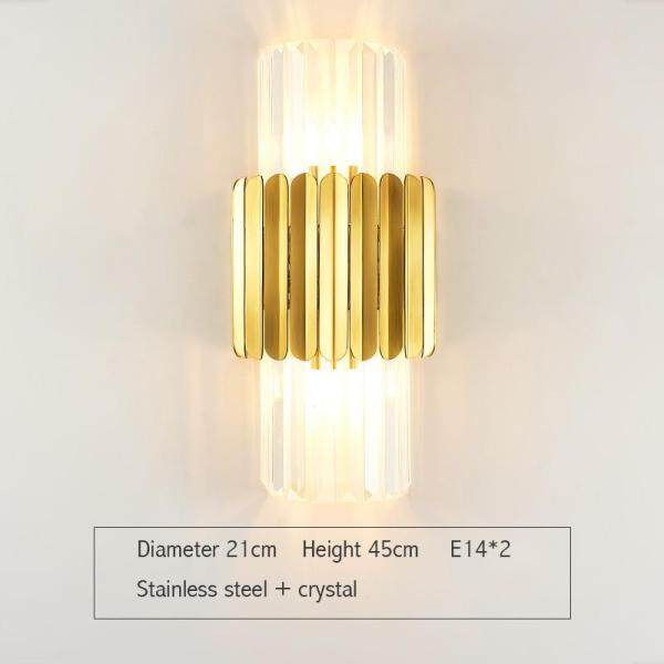 Post modern light luxury crystal lamp living room wall lamp household personalized bedside lamp fashion creativity northern Europe aisle wall lamp