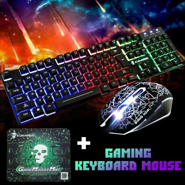 KUIYN T6 Luminous Wired RGB Gaming Keyboard and Mouse Set Malaysia
