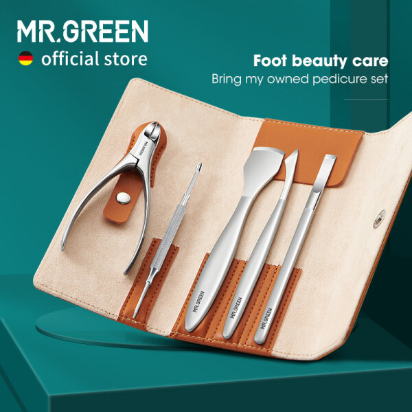 Buy MR.GREEN Pedicure Set Professional Foot Care Nail Tools Stainless Steel Ingrown Toe Nail Nippers Clipper Remover Kit Singapore