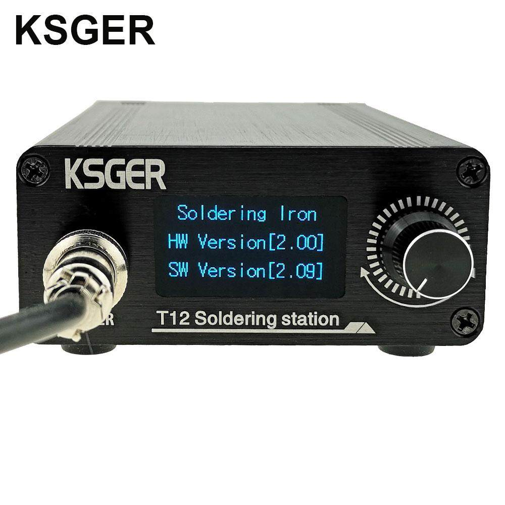 KSGER T12 Soldering Station Iron Tips STM32 V2.01 OLED DIY Kits FX9501 Handle with Soldering Tool Tips Electric Temperature Controller