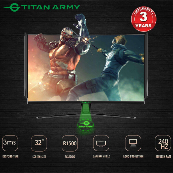 TITAN ARMY 32 1500R Curved 240hz Monitor with Gaming Shield (N32SK-PRO) with FREE GIFT Malaysia