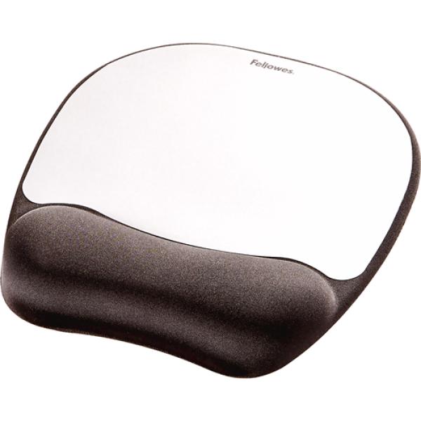 Fellowes Memory Foam Mousepad Wrist Support (Silver)  CRC 9175801 Malaysia