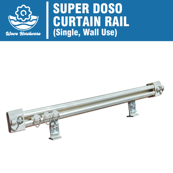 SUPER DOSO Single Set Besi Langsir Rod / Curtain Rail