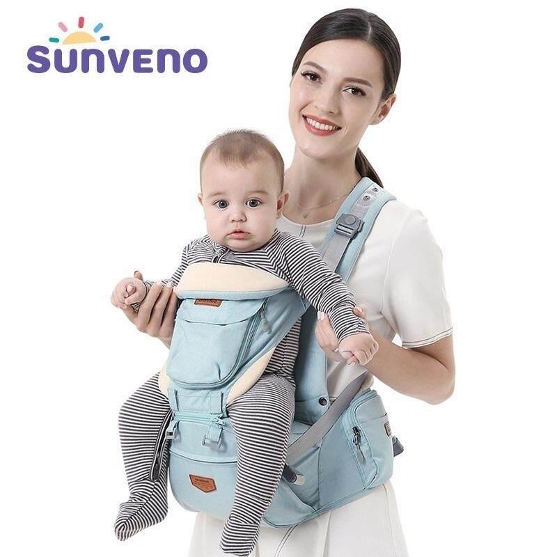 Sunveno ใหม่กระเป๋าอุ้มเด็กอุปกรณ์รับน้ำหนักทารกที่เหมาะกับสรีระ Coat กระเป๋าเป้สะพายหลังสตูลสายสะพายมีที่นั่งสำหรับทารกแรกเกิดโหลด 20 กก.