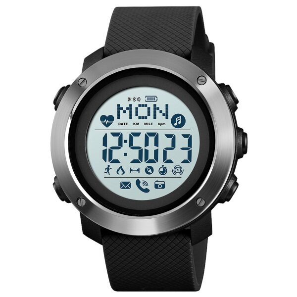 [ Local Seller ] SKMEI 1511 Heart Rate New Men Sports Smart Watches Bluetooth Calorie Pedometer Waterproof Fashion Watch For Men Malaysia