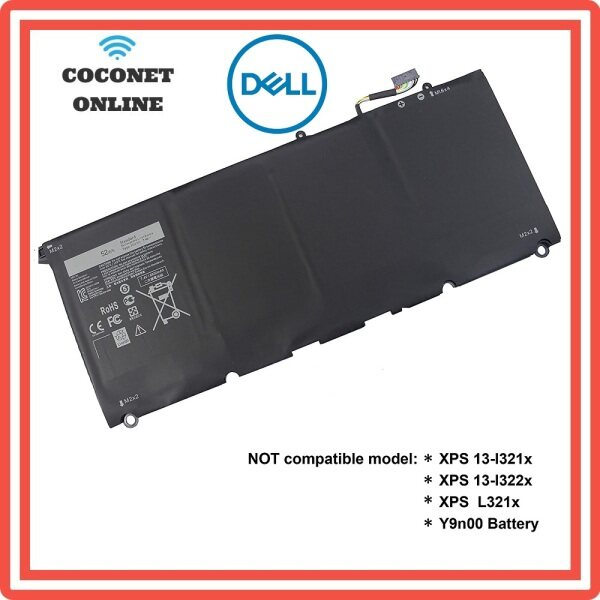 DELL XPS 13 9343 13 9350 Laptop Battery JD25G 5K9CP P54G001 DIN02 RWT1R 0N7T 60DRRP P54G 90V7W Malaysia
