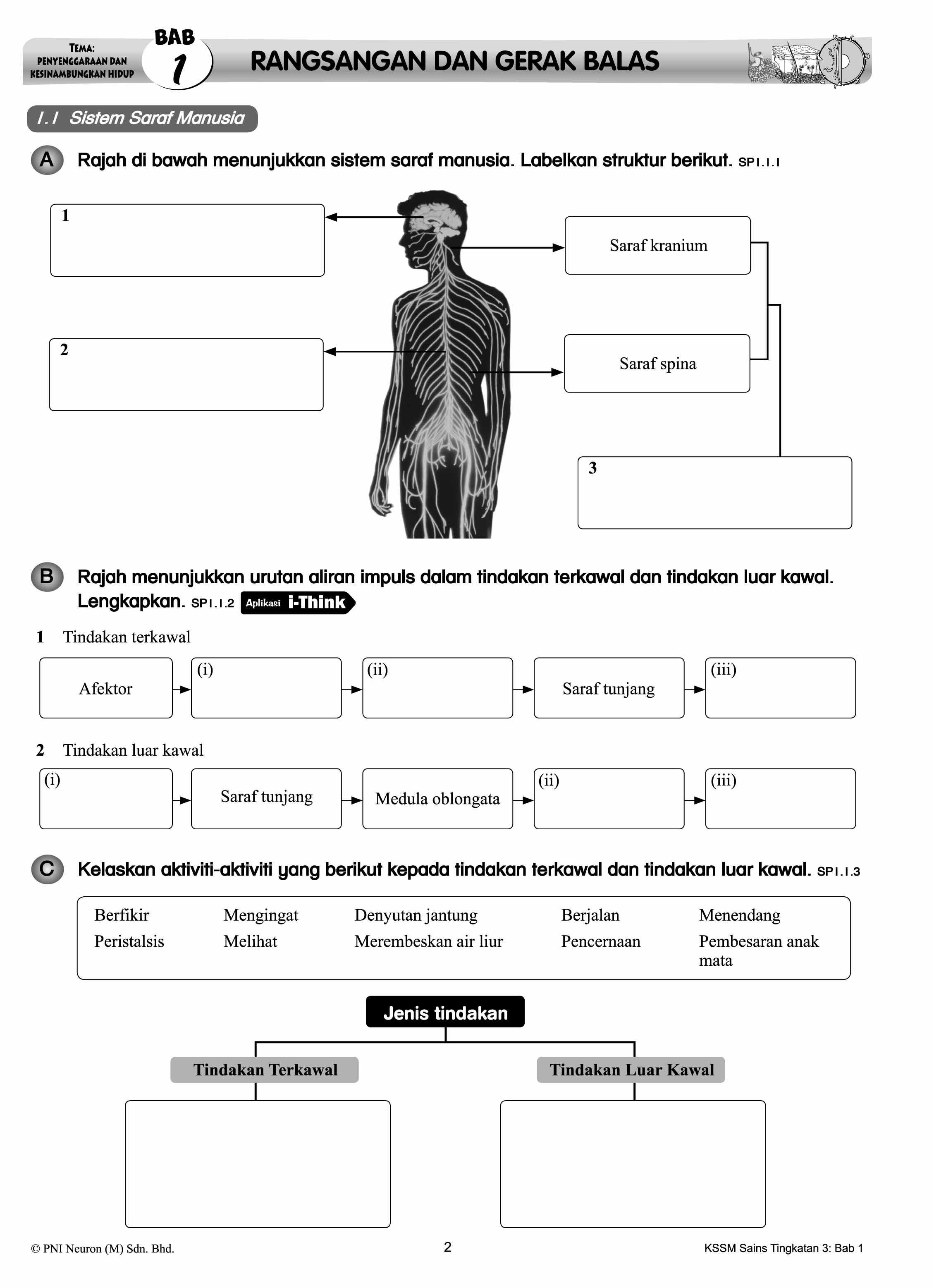 Riang Belajar Kssm Sains Tingkatan 3 Buku Latihan Topikal Nota Lazada