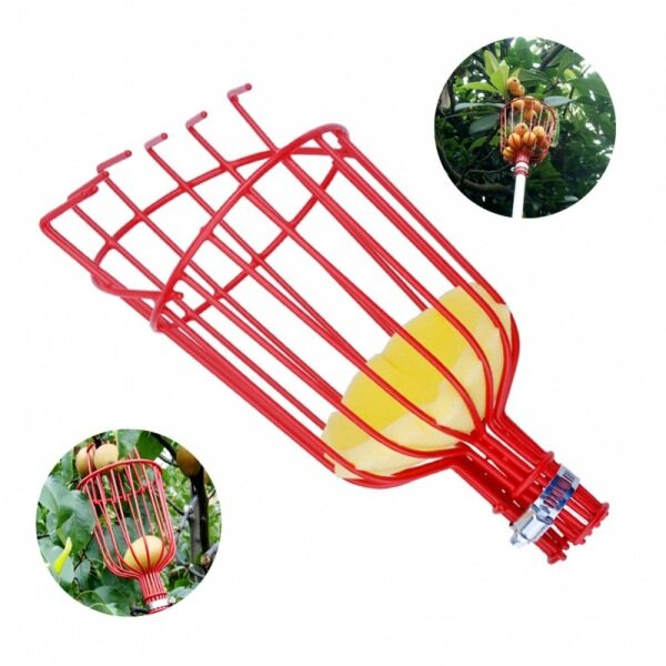 TERMATH Fruit Picker Basket - Twist-On Fruit Picker Head for an Extension Pole or Telescopic Pole, Fruit Picking Tools, Ideal for Apple Picking, Kiwis, and Other Fruit