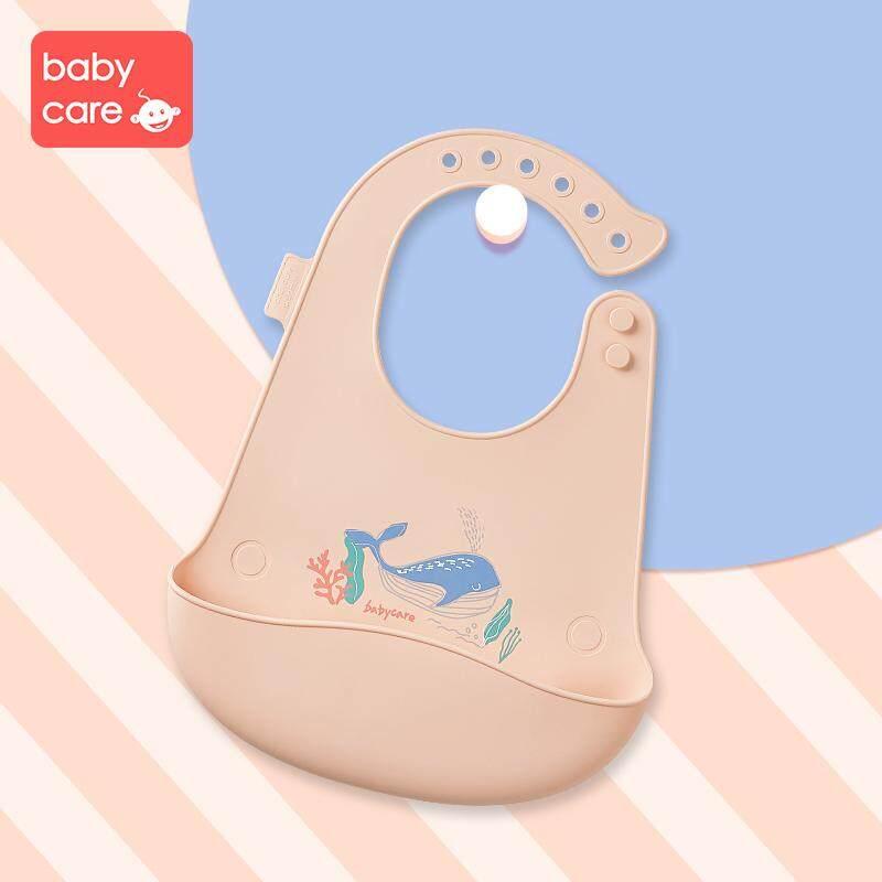เด็กทารกซิลิโคนเสื้อเอี๊ยมสเตอริโอปรับผ้ากันเปื้อนกันน้ำ Pick By Babycare Store.