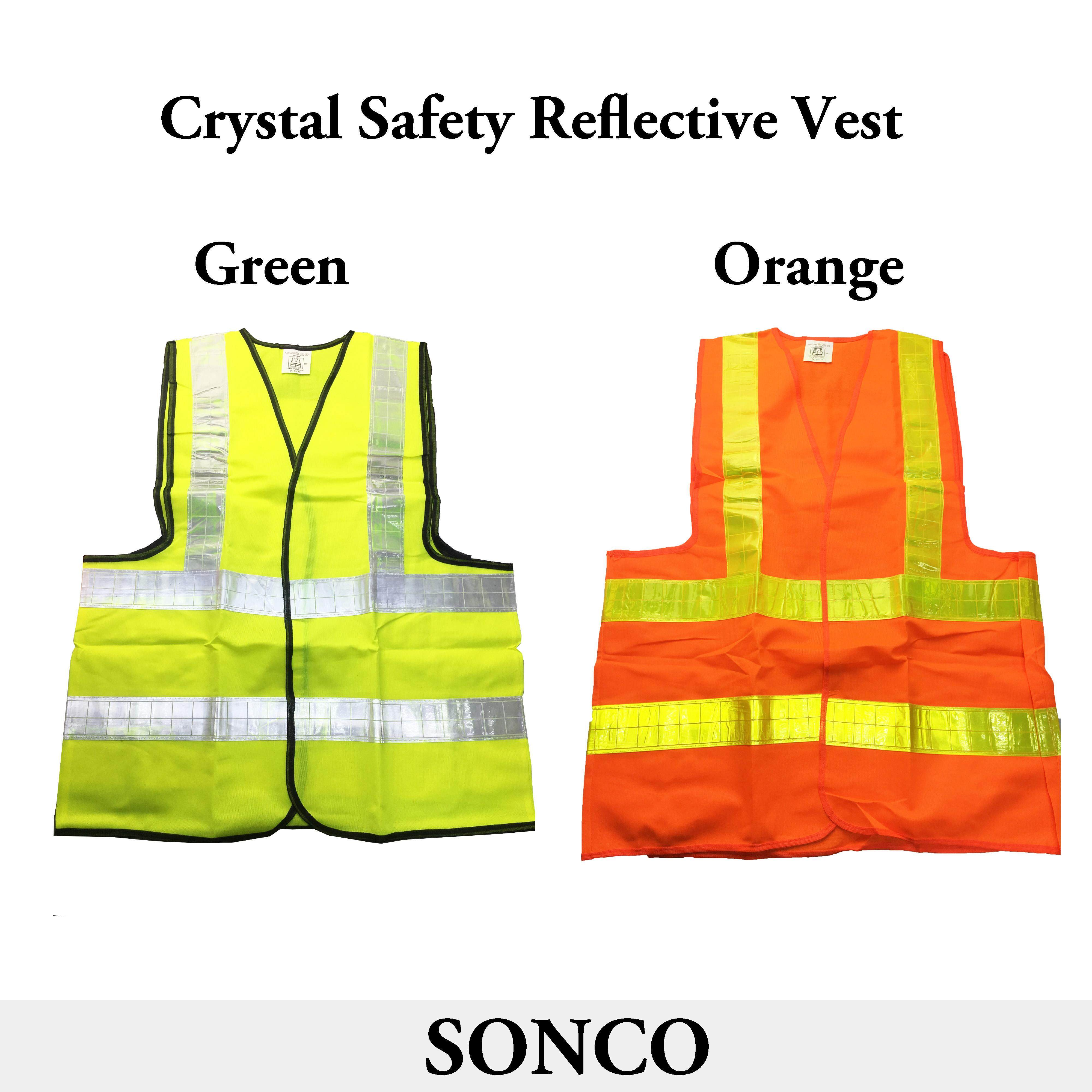 Green XXL Safety Vest Visibility Security Traffic Enclosure with Velcro Stick-On Pad Polyster Safety Vest
