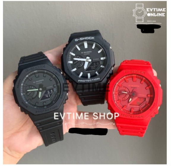 READY STOCK 100% ORIGINAL CASIO G-SHOCK GA-2100-1A / GA-2100-1A1 / GA-2100-4A / GA-2100 ALLBLACK/BLACK/RED aka TMJ Malaysia