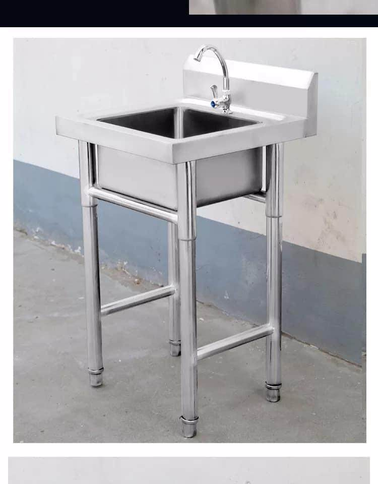 Single Sink Stand Stainless Steel Cabinet By Jns Furniture.