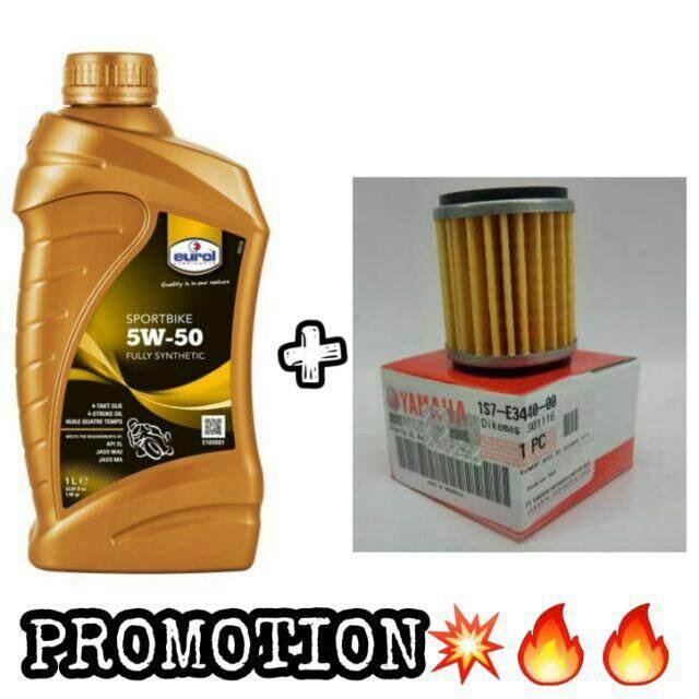 PROMOTIONEUROL 5w-50 + oil filter yamaha