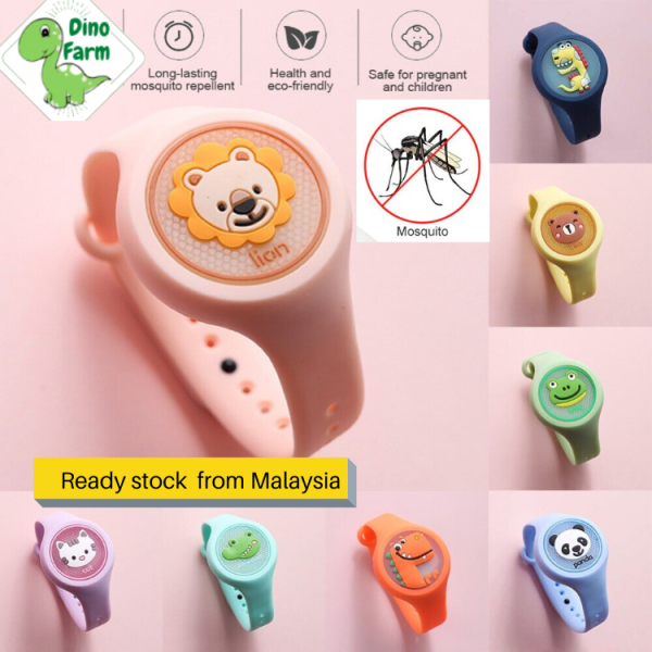 Mosquito Repellent Bracelets Natural Essential Oil Cartoon adults children baby watch Toys Safety Malaysia