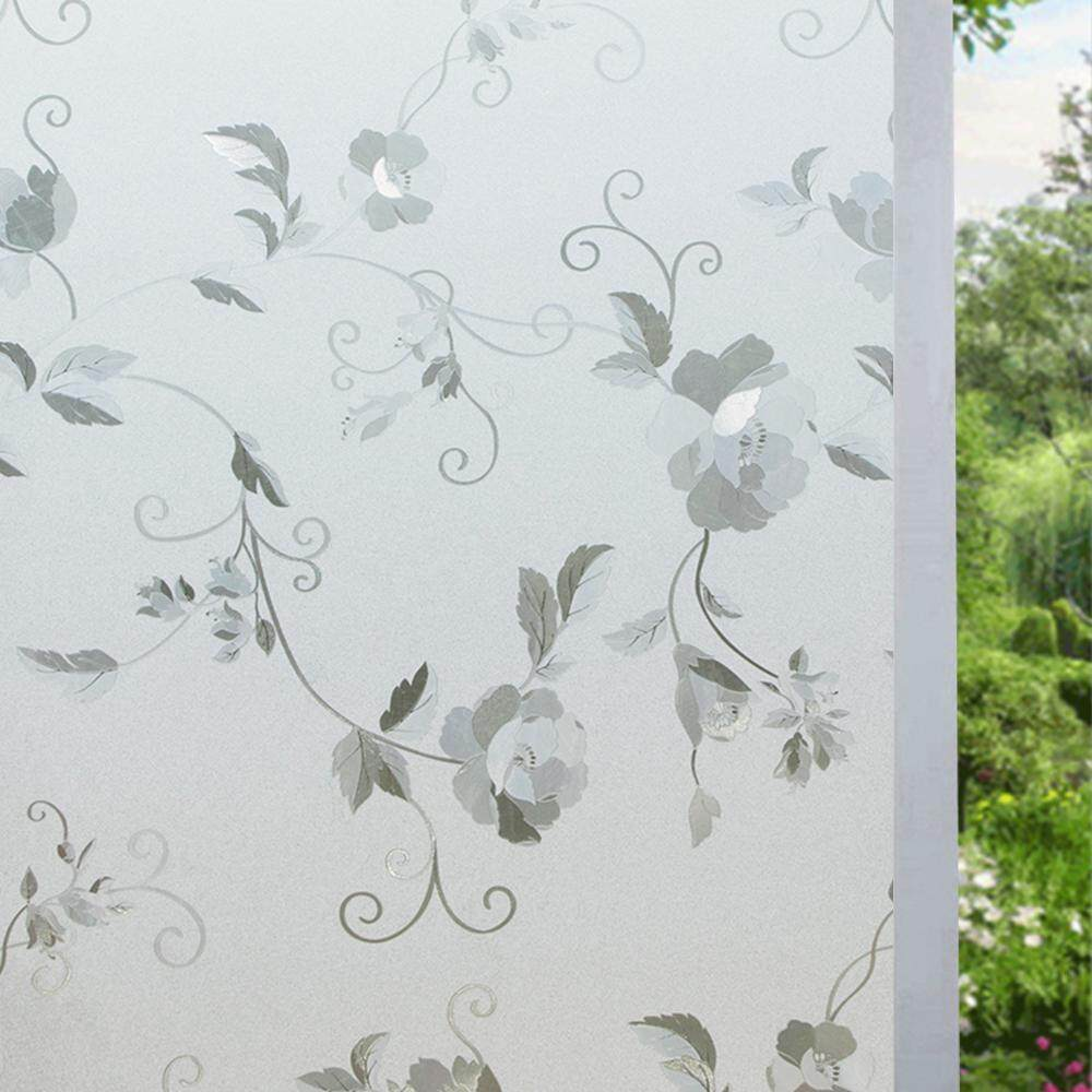 90*200cm Beautiful Texture Static Cling Glass Window Film Privacy Frosted Opaque Window Decor Home Decor