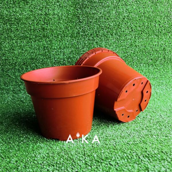 12pcs gardening flower pots set pasu bunga plastik diameter 15cm for home décor and gardening use indoor and outdoor