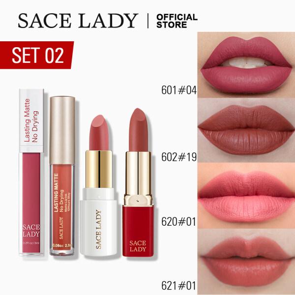 Buy SACE LADY Hot Shades Lipstick Set 4Pcs Waterproof & Long Lasting Matte Lipstick Liquid Make Up Set Singapore