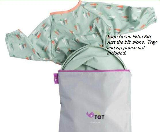 Long Sleeve Tidy Tot Cover /& Catch Smock Bib attaches to highchair NO More Gaps