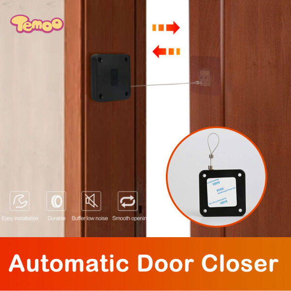 Temoo New Punch-free Automatic Sensor Door Closer Portable Removable Automatic Door Closer Suitable For Doors Or Doors With A Slightly Stronger Closing Force