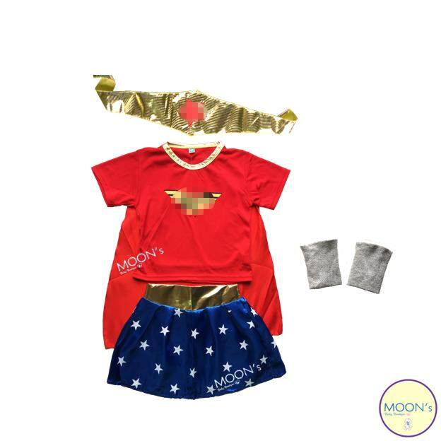 Kids Superhero Costume WonderWomen (Design 02) baju budak girls clothing