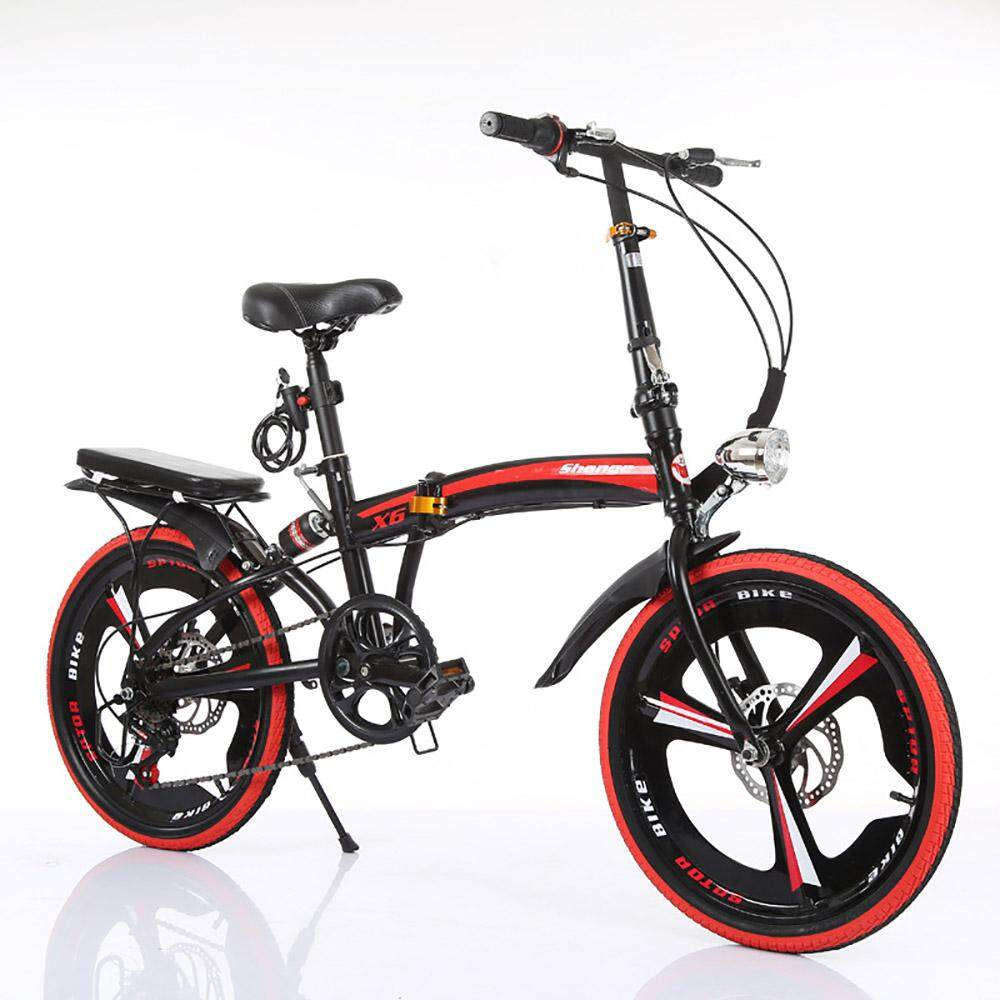 (2019 New Release) (kumronmo) 16 Inch And 20 Inch Folding (foldable, Fold) Bicycle Portable (light Weight) (lightweight) Variable Speed With Disc Brake Single Speed For Adults Children Student Shock Ultra Light Bike By Fuyuequan Store.