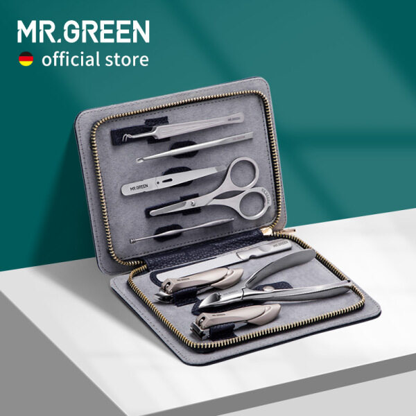 Buy MR.GREEN Innate Luxury Manicure Set Scissor Stainless nail clipper Kit full grain cow leather package Pedicure Singapore