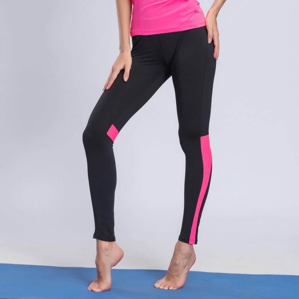 Wanita Celana Yoga Legging Slim Tipis Olahraga Cepat-Celana Pengering Gym Lari Di Luar Ruangan Bernapas Celana Ramping By Good World Store.