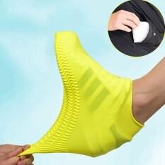 Ngoài Trời Latex Giày Bìa Silicone Đi Xe Đạp Mưa Giày Boot Covers Tái Sử Dụng Không Thấm Nước Dày Non-slip Mang Chân Che Bảo Vệ