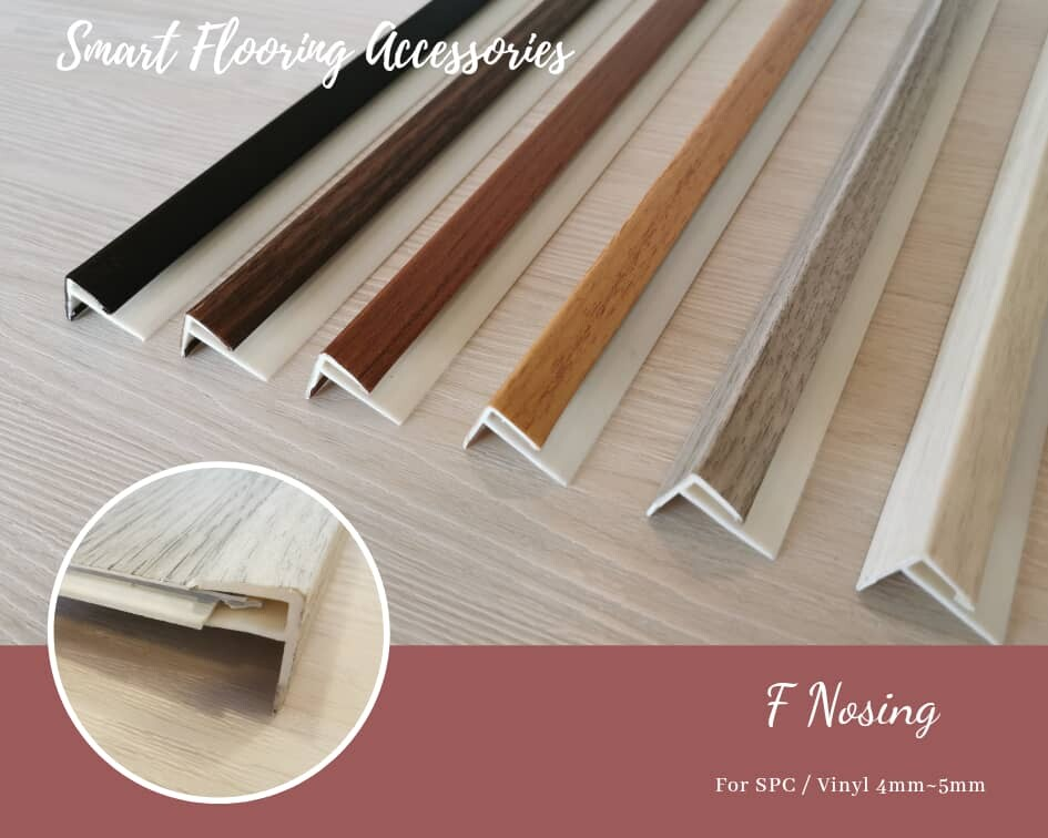 Vinyl Flooring Accessories / SPC Flooring Accessories - VPN F-Nosing (9ft Long)