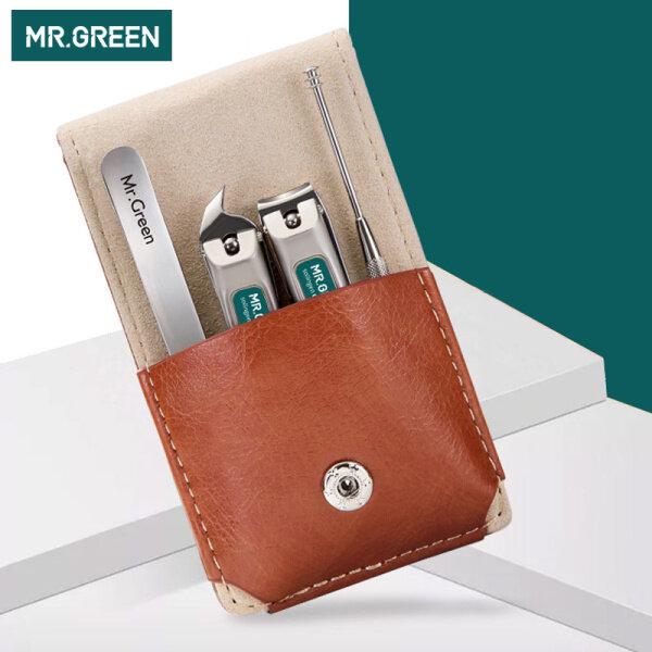 Bộ dụng cụ cá nhân MR.GREEN làm bằng thép không gỉ gồm 2 kềm cắt móng tay/ móng chân+ nhíp+ đồ móc ráy tai phù hợp mang theo khi đi du lịch hoặc làm quà tặng Mr-6103 - INTL cao cấp